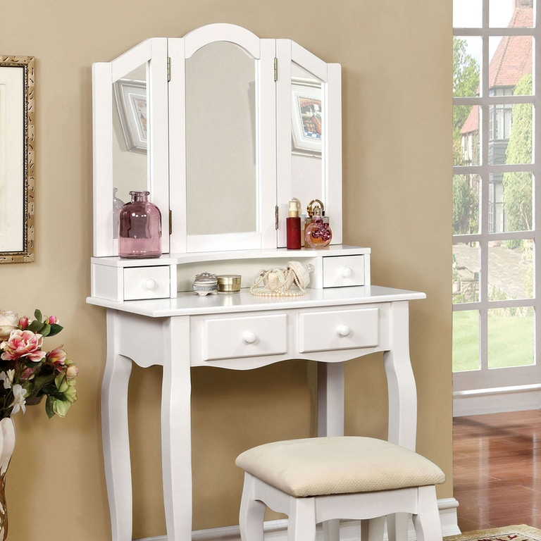 Furniture of America Bedroom Vanity, White CM-DK6846WH - Simply ...