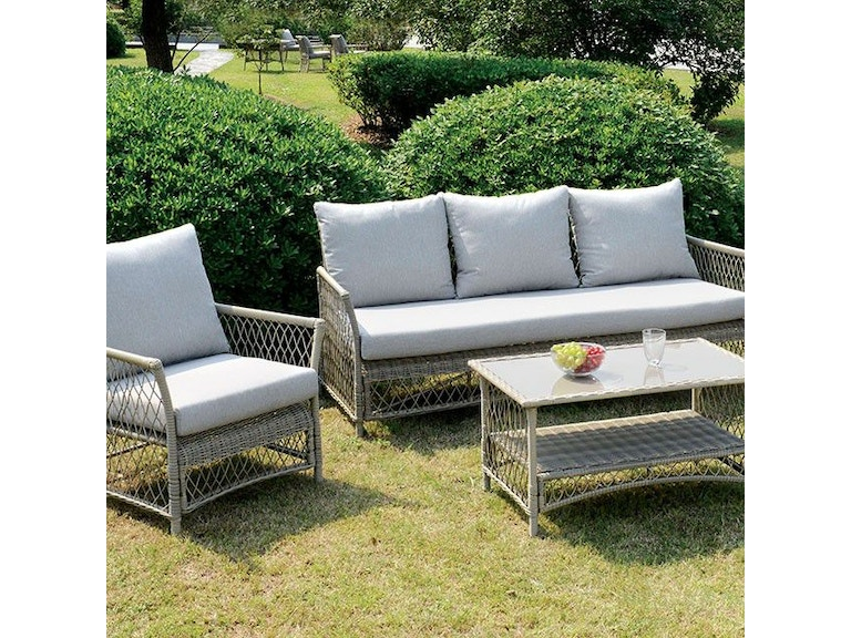 Furniture Of America 4 Pc Patio Seating Set Cm Os1832