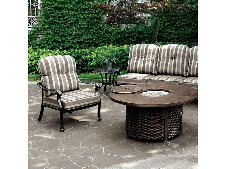 Furniture Of America Outdoor Patio Fire Pit Table Cm Os2124 T Table Furniture Max