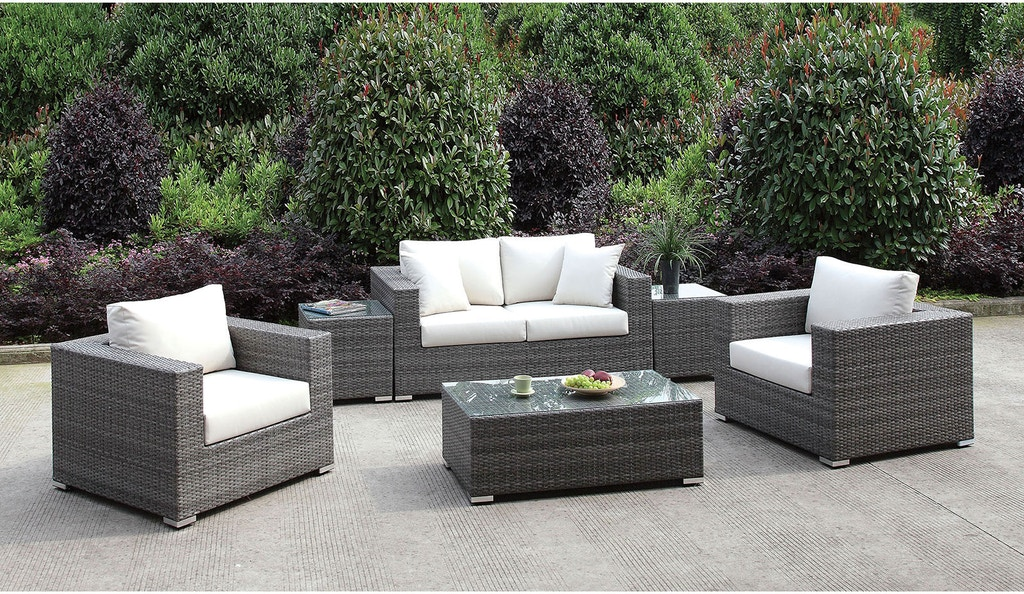 Fabulous Furniture Of America Outdoor Patio Love Seat 2 Chairs 2 End Beatyapartments Chair Design Images Beatyapartmentscom