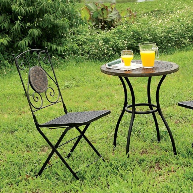Sensational Furniture Of America Outdoor Patio Metal Table W Stone Top Interior Design Ideas Tzicisoteloinfo