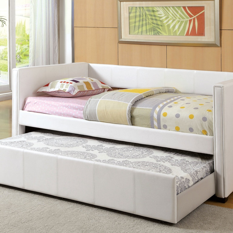 Furniture Of America Bedroom Daybed W Trundle White Cm1955wh Bed