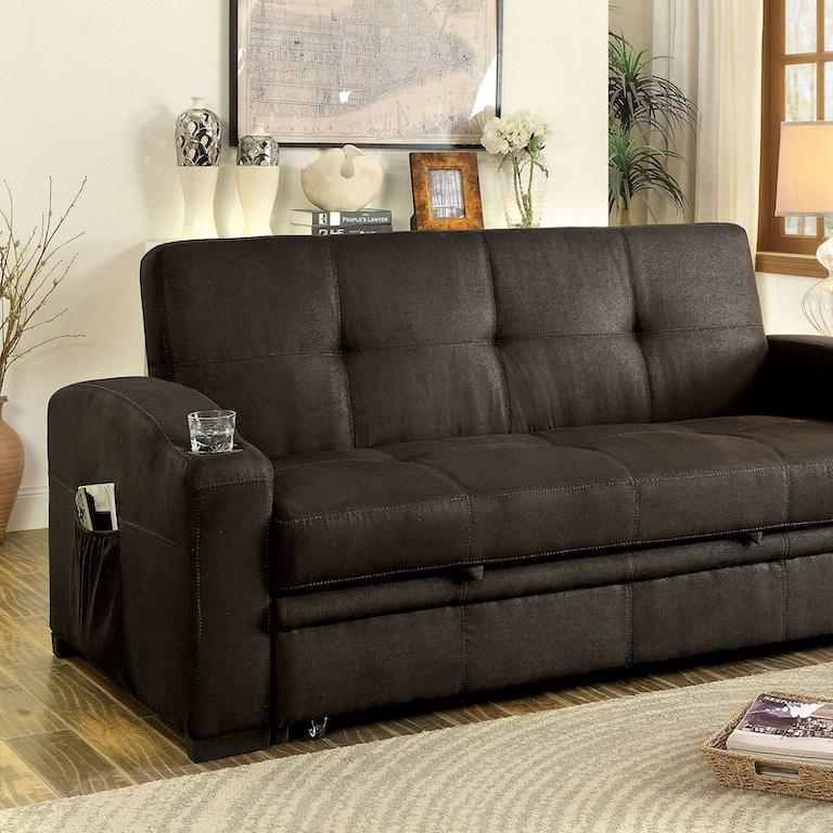 Awe Inspiring Furniture Of America Living Room Futon Sofa Cm2691 Set Theyellowbook Wood Chair Design Ideas Theyellowbookinfo