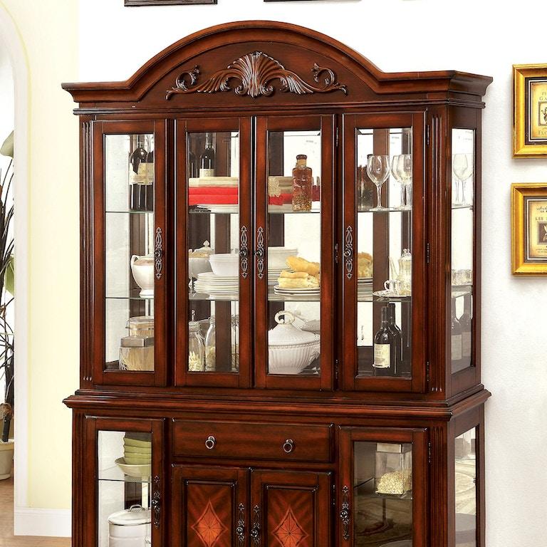 Brilliant Furniture Of America Dining Room Hutch Buffet Cm3185Hb Home Interior And Landscaping Analalmasignezvosmurscom