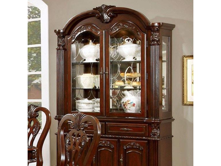 Furniture Of America Hutch Buffet Cherry CM3212HB SET