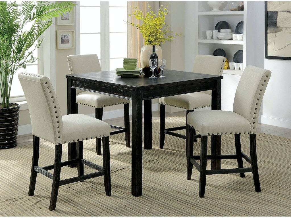 Furniture Of America Dining Room 5 Pc Counter Height Table Set Cm3314pt 5pk Anna S Home