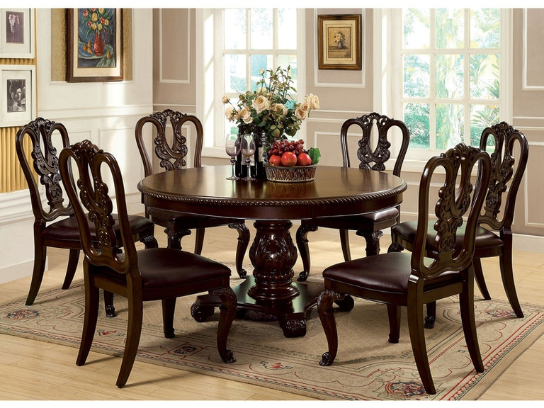 Furniture Of America Dining Room Round Table Cm3319rt At Simply