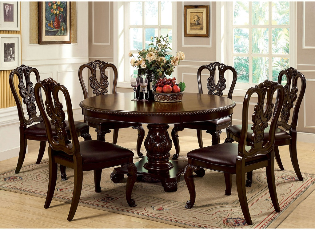 Furniture Of America Round Dining Table Cm3319rt