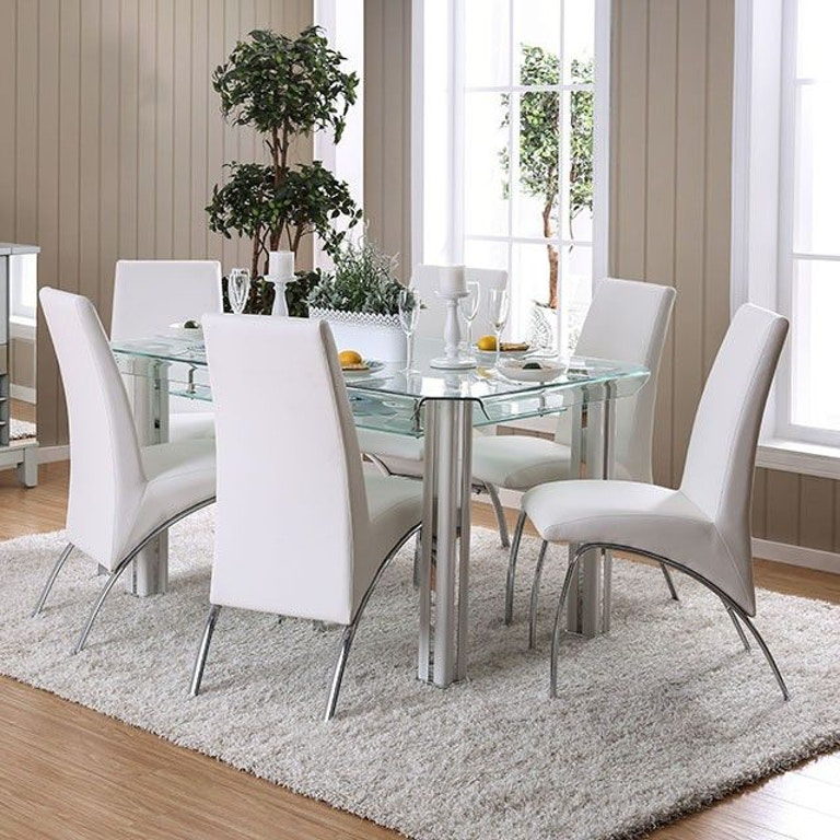 Furniture of America Dining Room Dining Table, White ...