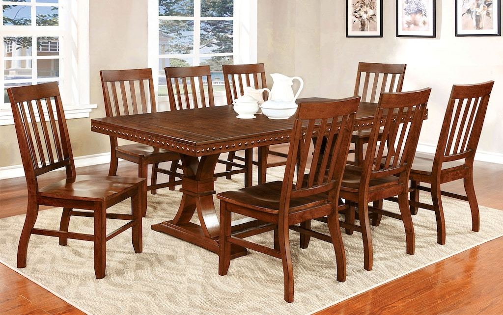 8636adf502b4a5 Furniture of America Dining Room Dining Table w/1x18 Leaf CM3437T ...
