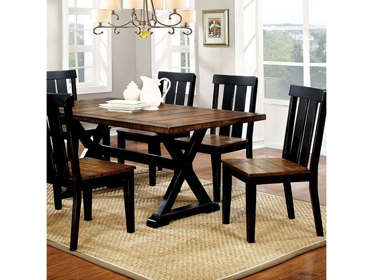79e4b15f00e7b5 Furniture of America Dining Room Dining Table CM3668T at Simply Discount  Furniture