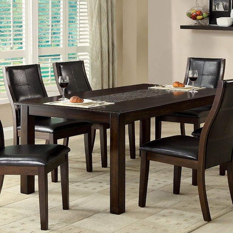 Furniture Of America Dining Room Mosaic Insert Dining Table Cm3669t
