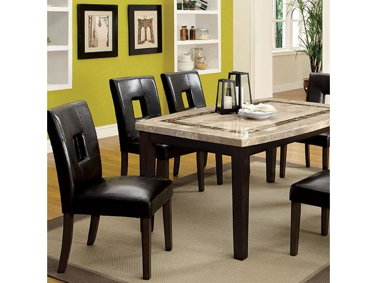 Furniture Of America Dining Room Marble Top Oval Edge Dining Table Cm3693ot Anna S Home
