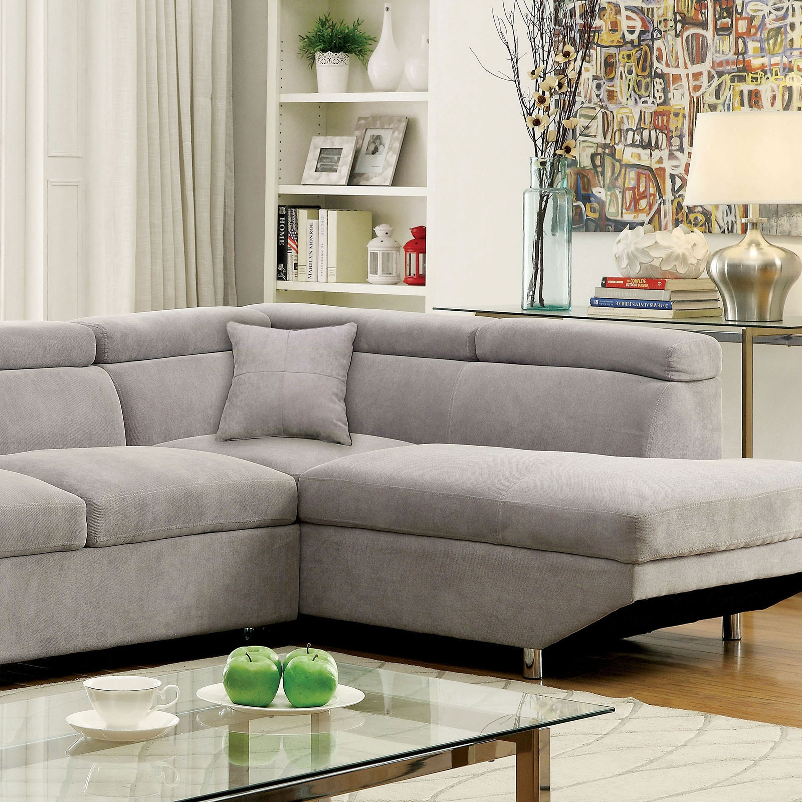 Furniture Of America Living Room Sectional Gray Cm6124gy Sectional