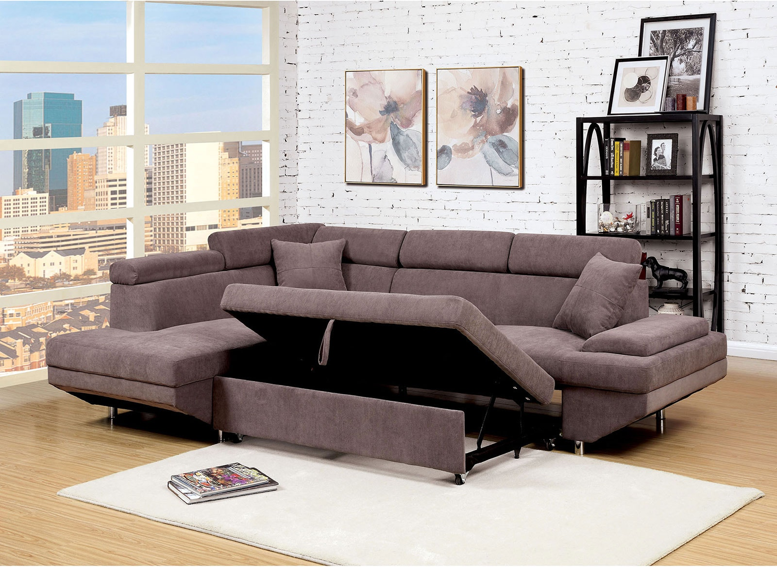 Furniture Of America Living Room Sectional Brown Cm6125br Sectional