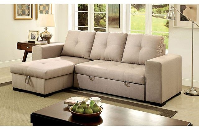 Furniture Of America Living Room Sectional Ivory Fabric Cm6149iv
