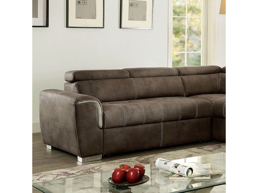 Furniture Of America Living Room Sectional Ottoman Ash