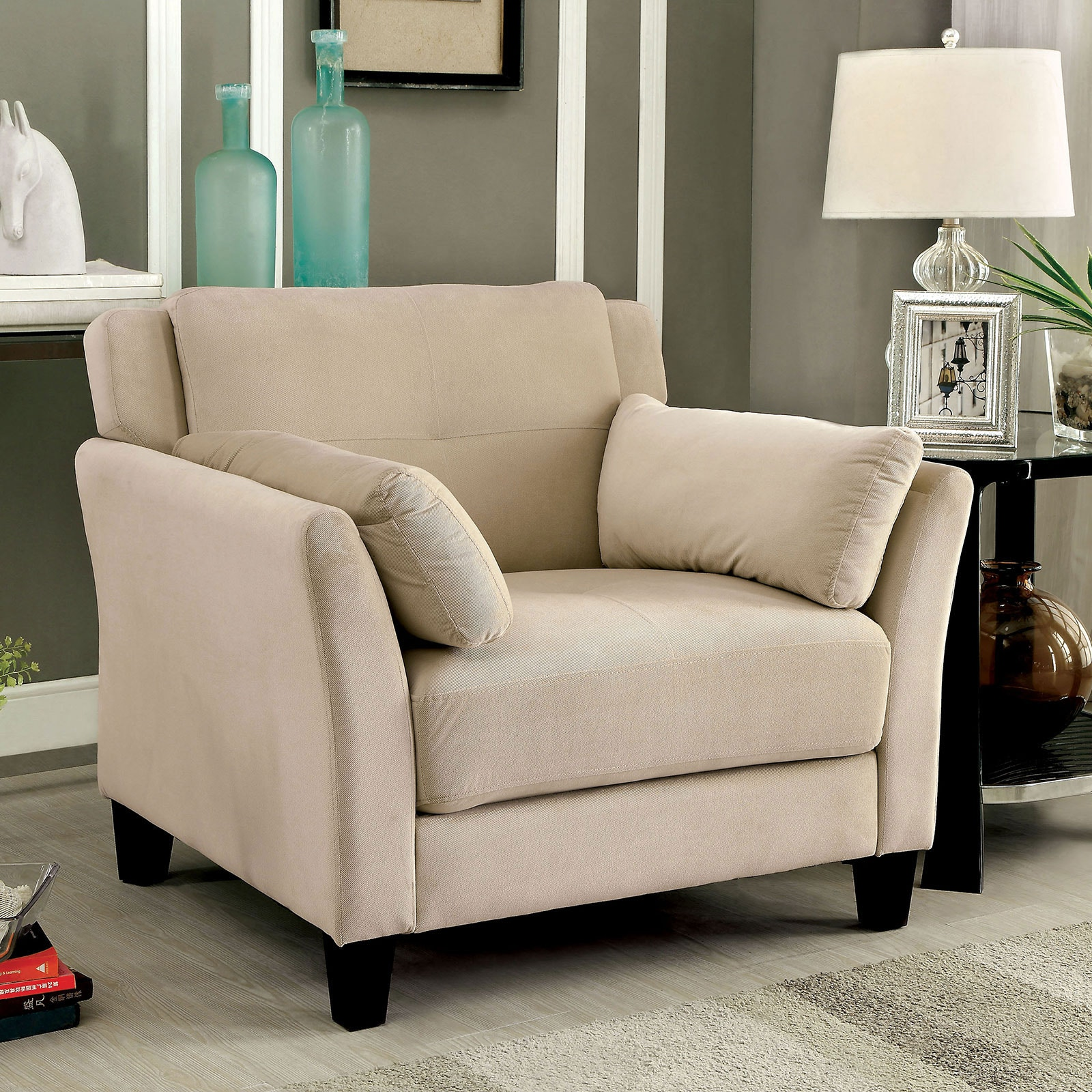 Add Charm Living Room Sets Furniture of America Living Room Chair, Beige CM6716BG-CH-PK at Kensington Furniture  and Mattress. Add some modern charm ...