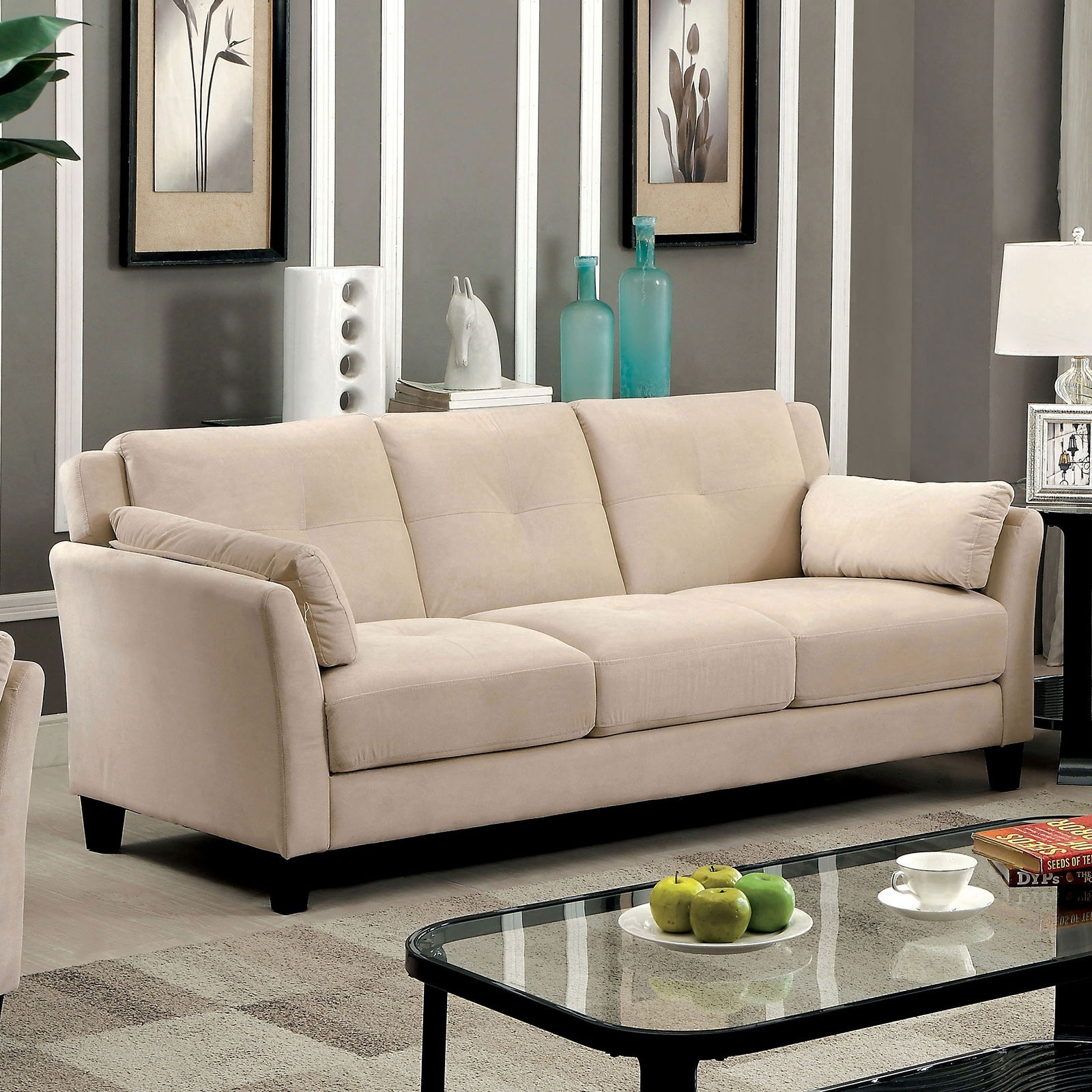 Add Charm Living Room Sets Furniture of America Living Room Sofa, Beige CM6716BG-SF-PK at Simply  Discount Furniture. Add some modern charm ...