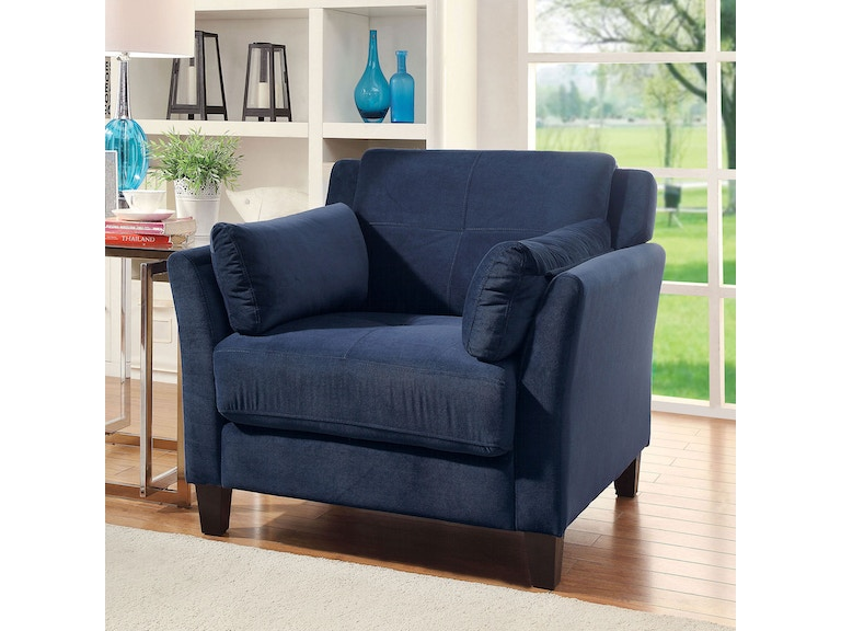Furniture of America Living Room Chair, Navy CM6716NV-CH-PK ...