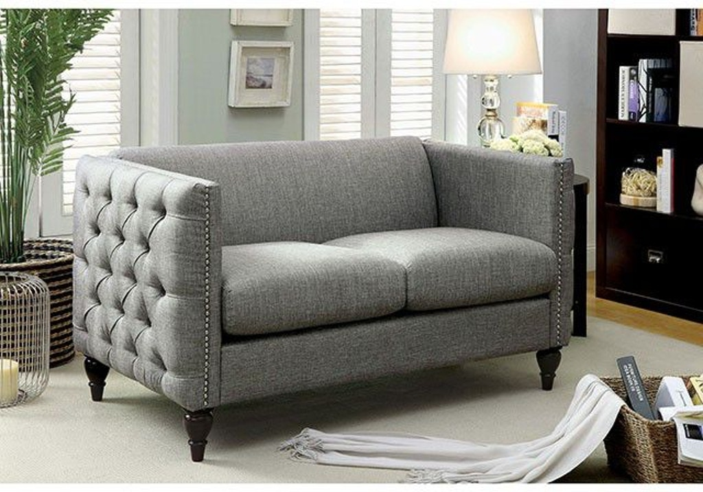 Furniture of America Living Room Love Seat, Gray CM6780GY-LV ...