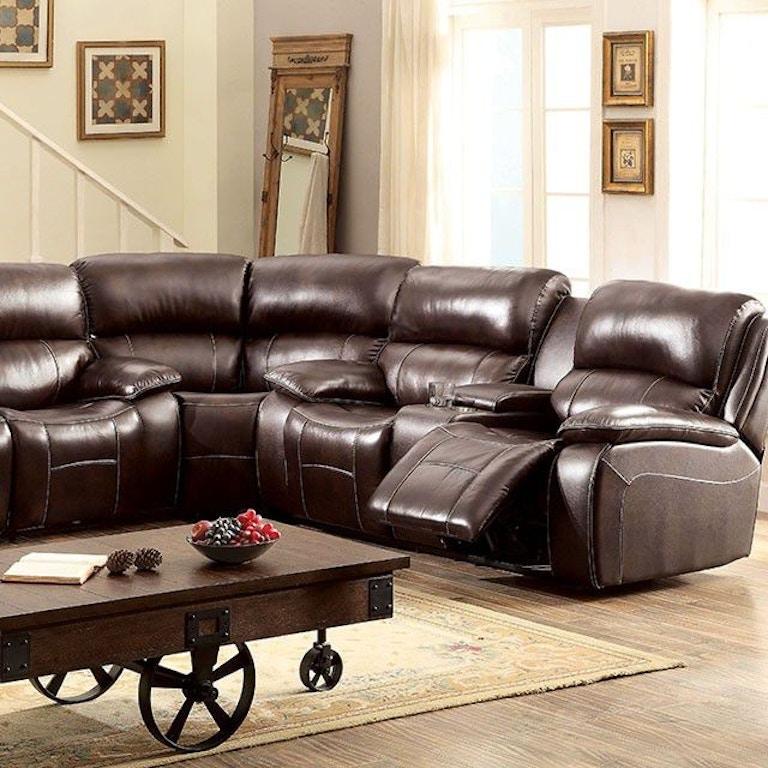 Furniture Of America Living Room Sofa Love Seat Corner