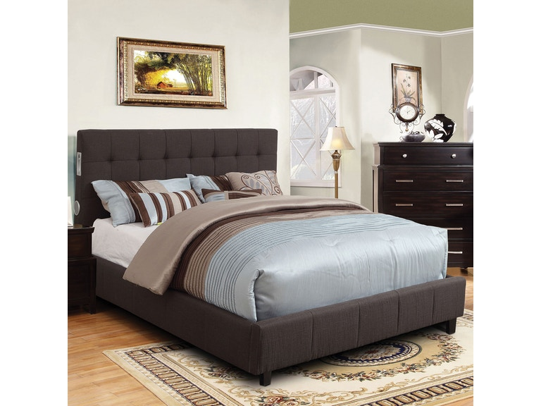 Furniture Of America Bedroom Cal King Bed Cm7060gy Ck Bed