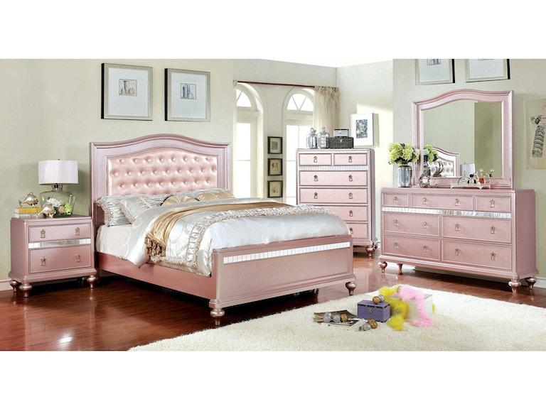 Furniture of America 13 Pc. Queen Bedroom Set CM13RG-Q-13PC - Daws
