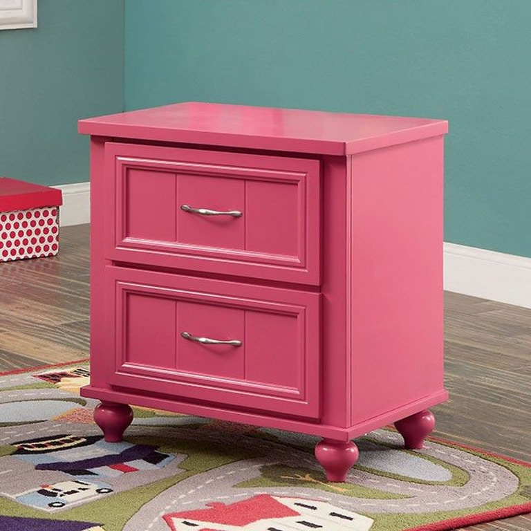 All American Furniture El Paso: Furniture Of America Youth Night Stand, Pink CM7322PK-N