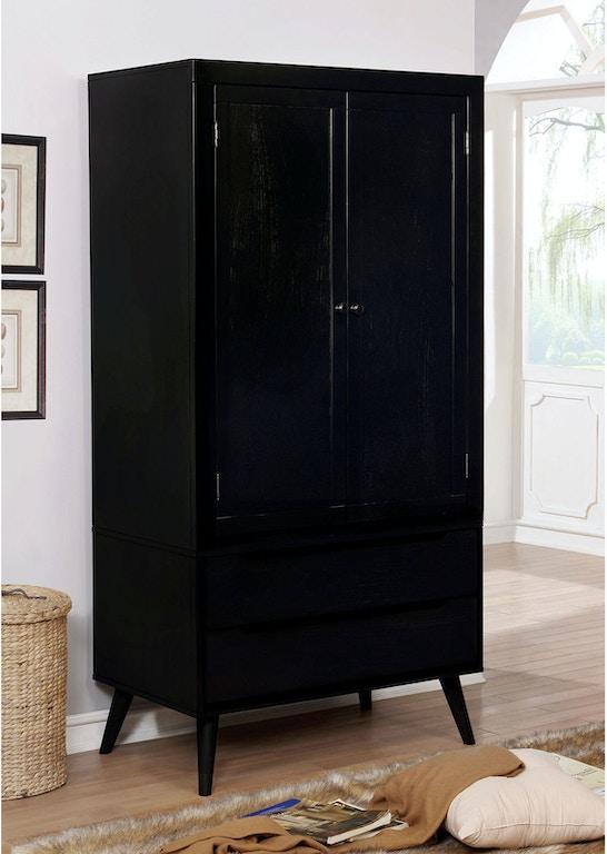 Furniture of America Bedroom Armoire, Black CM7386BK-AR-SET - Simply ...