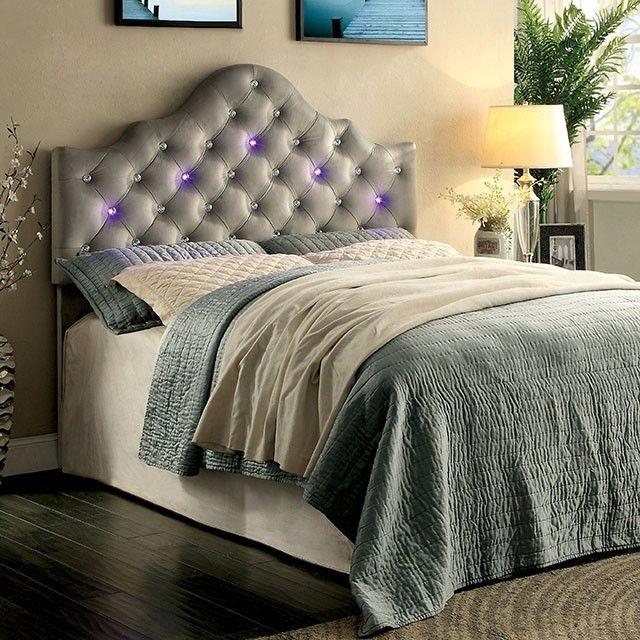 Furniture Of America Bedroom Queen Full Compatible Headboard Gray