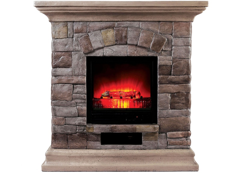 Furniture Of America Dining Room Portable Faux Stone Fireplace L9H134 At Kensington And Mattress
