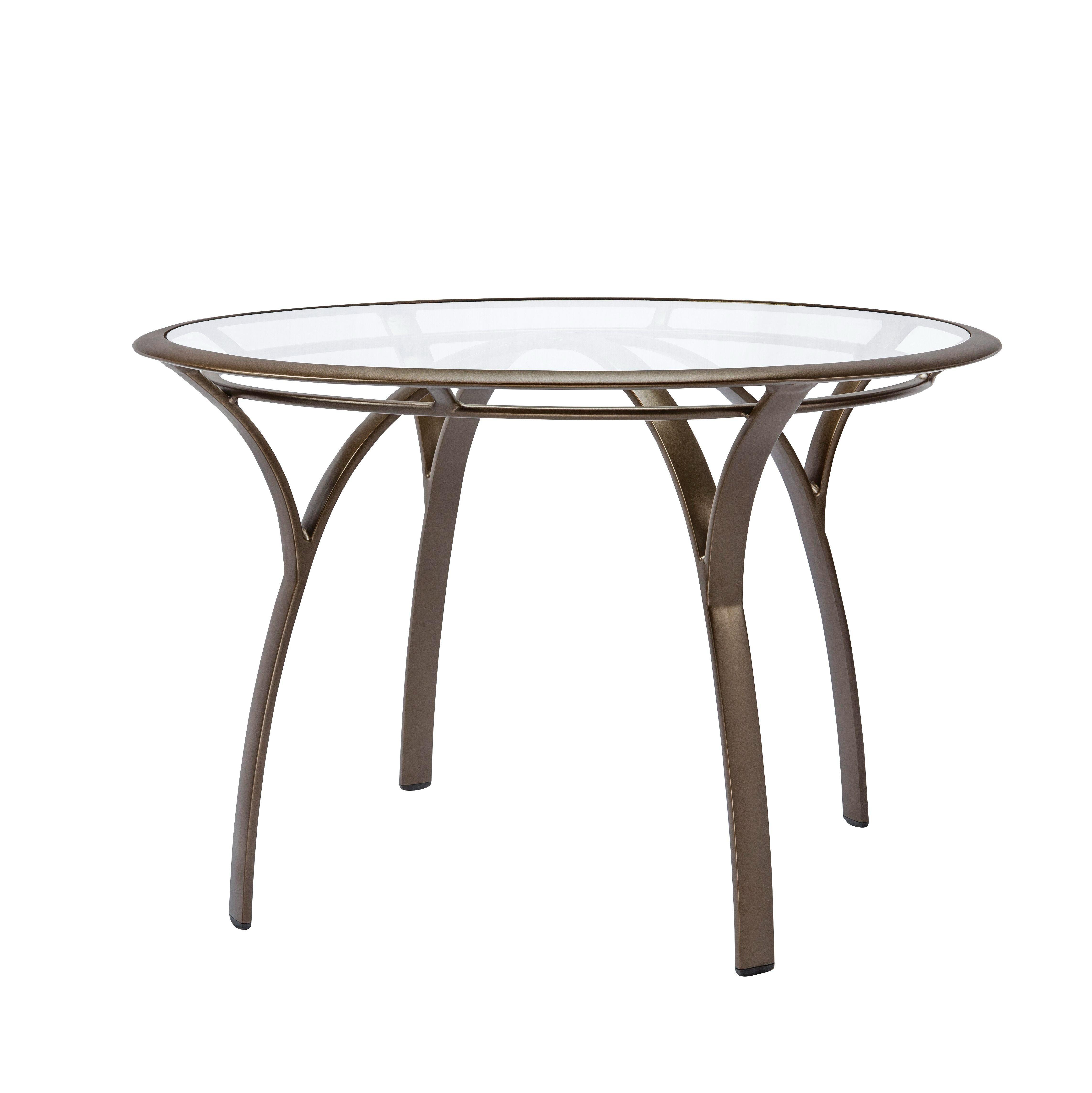 42 Inch Round Dining Table Brown Jordan 5191 4200