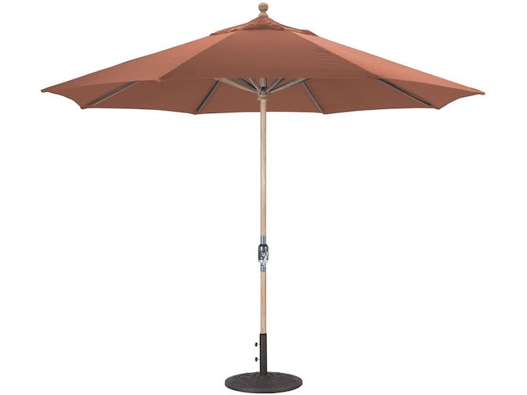 Teak Wood Market 11 Umbrella By Galtech