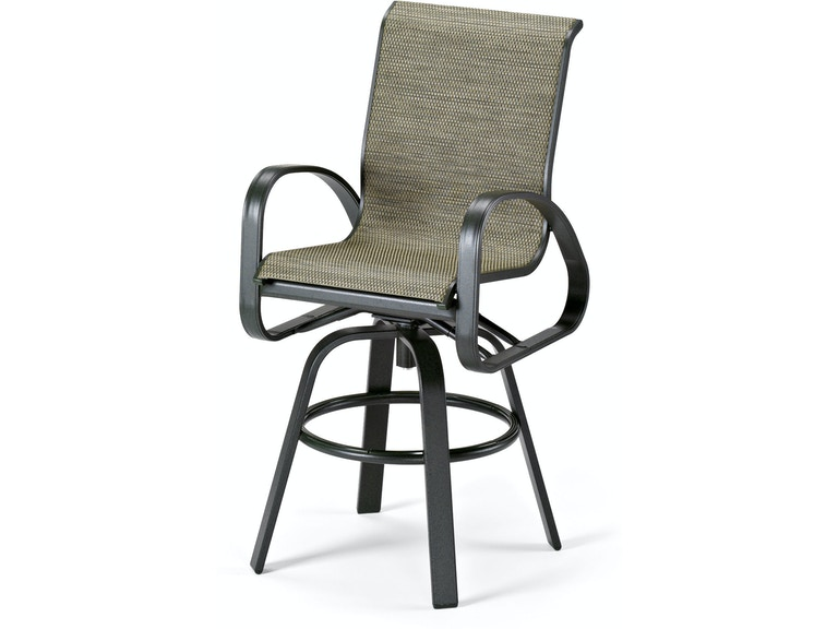 Superb Sling Swivel Bar Height Arm Chair By Telescope Machost Co Dining Chair Design Ideas Machostcouk