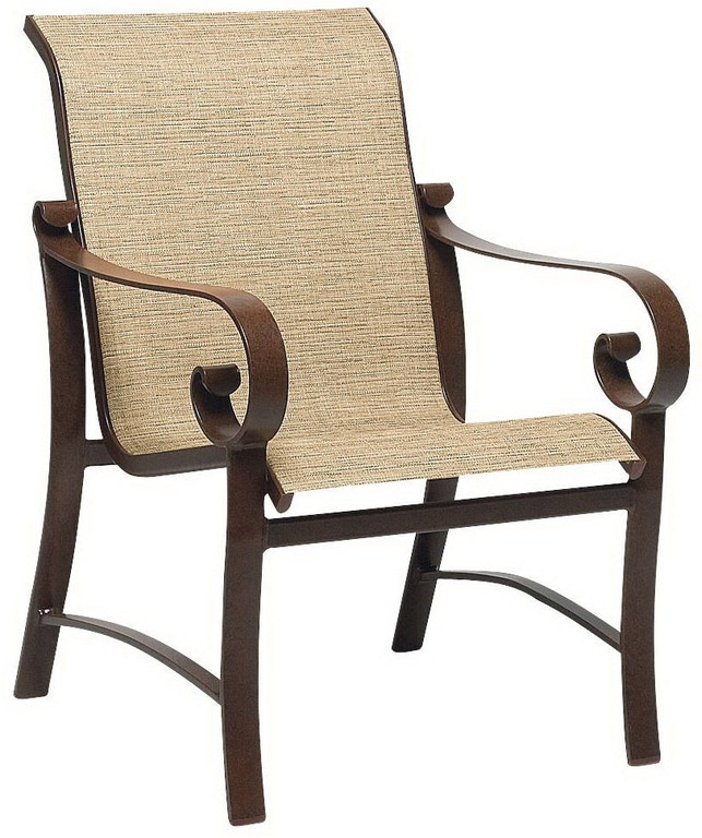 Woodard Sling Patio Furniture.Outdoor Patio Sling Dining Chair By Woodard 62h401 Patios Usa