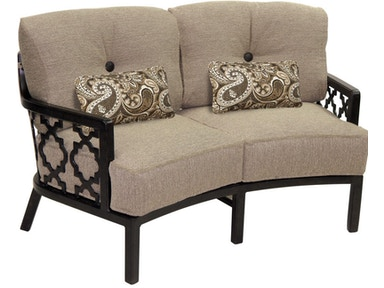 Cushioned Crescent Loveseat By Castelle Belle Epoque