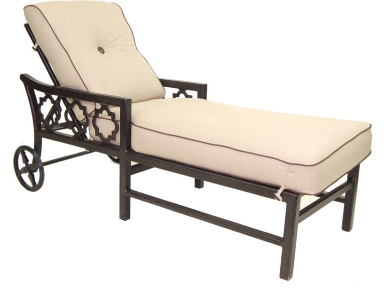 Outdoor Patio Cushioned Chaise Lounge By Castelle 2912T