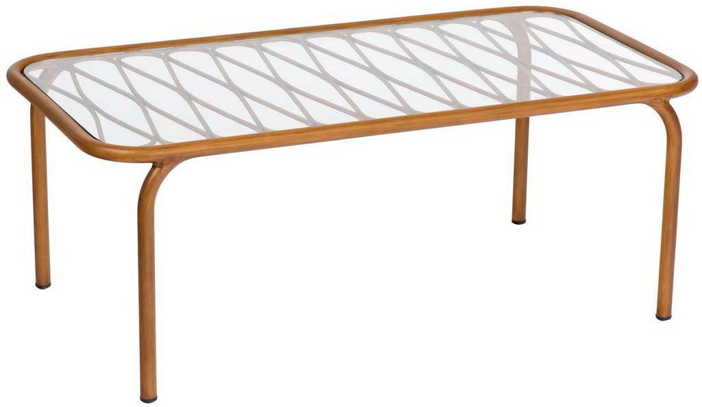 Cane Coffee Table By Woodard