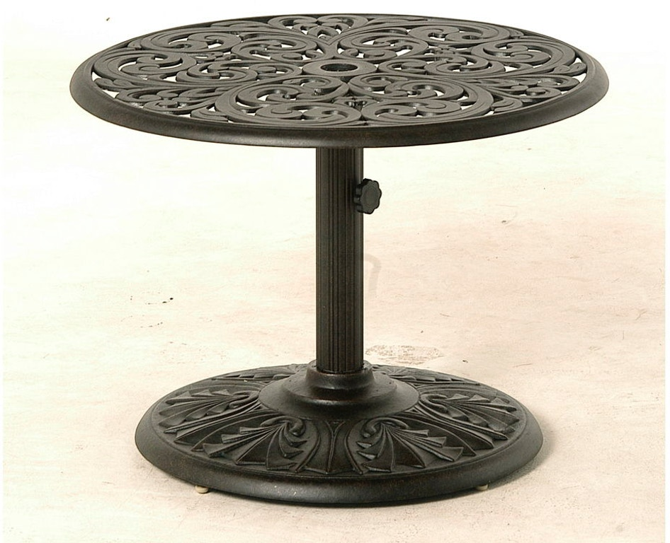 Cau Tables 30 Round Umbrella Side Table By Hanamint 020048 Call For Prices 888 643 6003