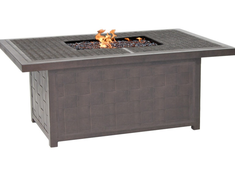 Clical Rectangular Firepit Coffee Table By Castelle Vrf32wl