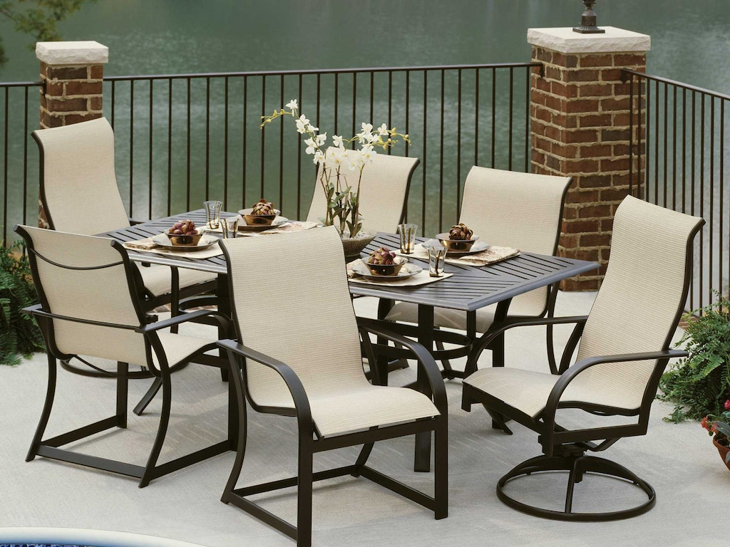 sling high back dining chair by winston m8049r - Winston Patio Furniture