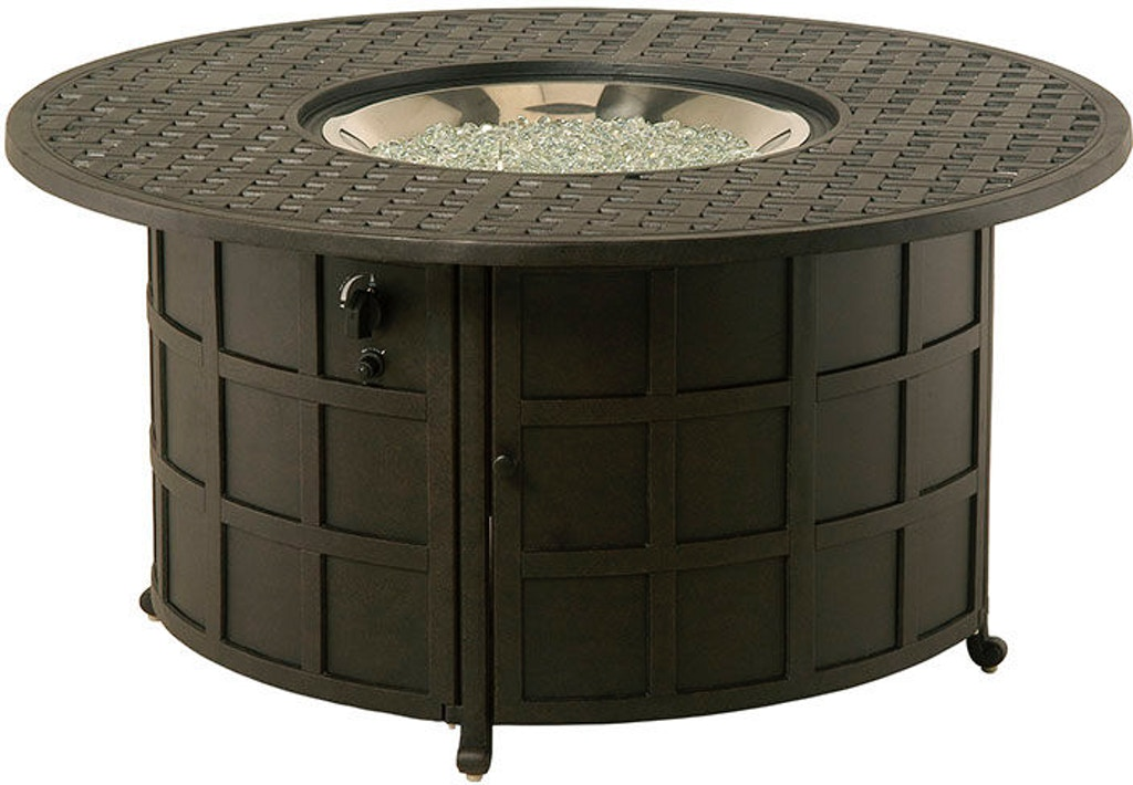 Newport 48 Round Enclosed Gas Fire Pit Table By Hanamint