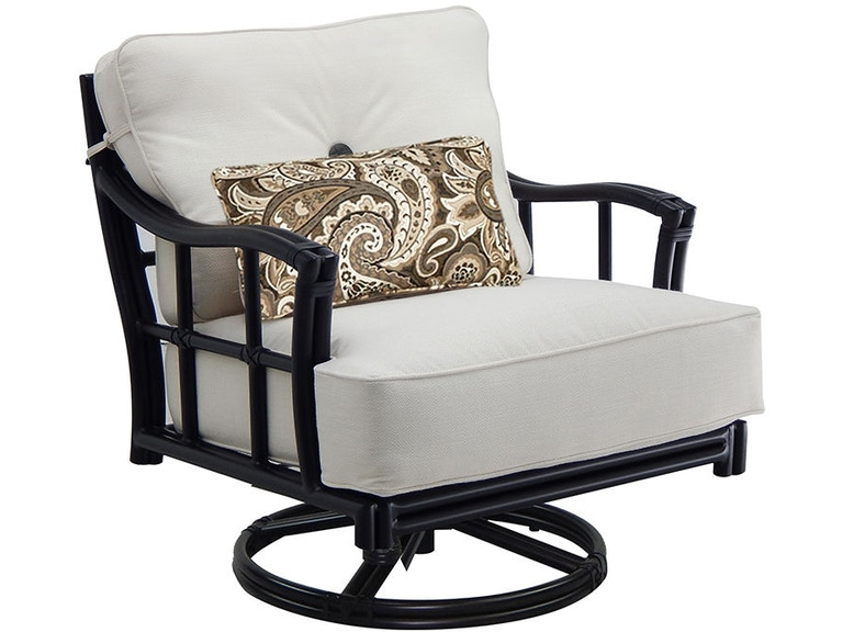 Outdoor/Patio Resort Fusion Cushioned Lounge Swivel Rocker By
