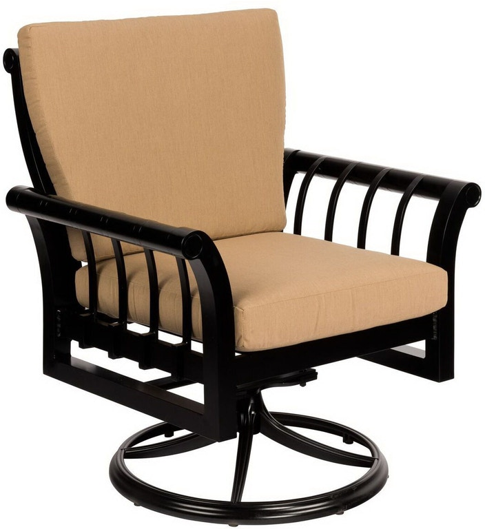 Excellent Swivel Rocker Dining Arm Chair By Woodard Caraccident5 Cool Chair Designs And Ideas Caraccident5Info