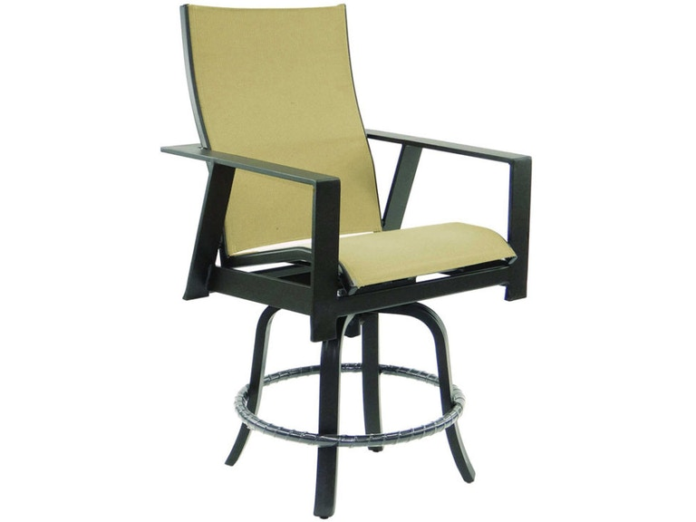 Prime High Back Sling Swivel Counter Stool By Castelle Andrewgaddart Wooden Chair Designs For Living Room Andrewgaddartcom