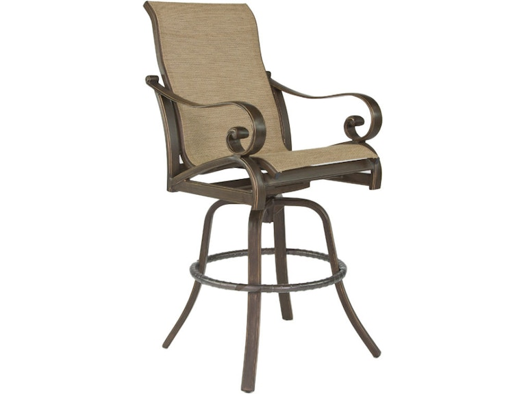 Outdoorpatio High Back Sling Swivel Bar Stool By Castelle 4099s