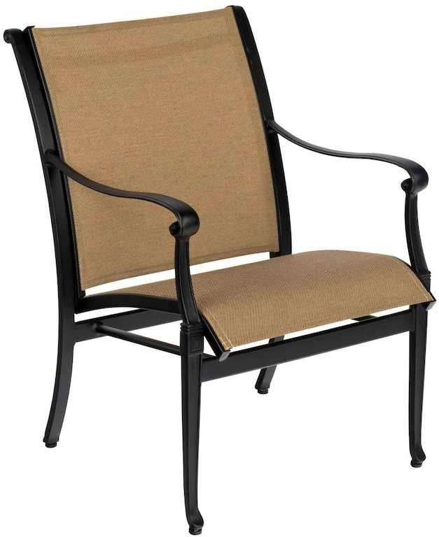 Woodard Sling Patio Furniture.Outdoor Patio Wiltshire Sling Dining Arm Chair By Woodard 6w0401
