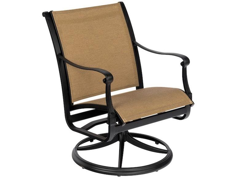 Woodard Sling Patio Furniture.Outdoor Patio Wiltshire Sling Swivel Dining Arm Chair By Woodard