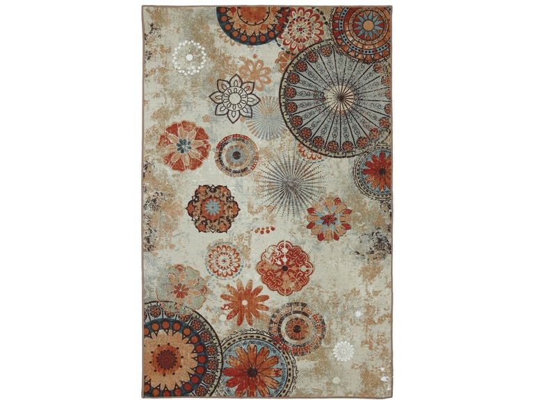 Mohawk Printed Indoor Outdoor Alexa Medallion Multi 7 6 X 10 Rectangle